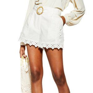 Topshop Broderie Belted Shorts